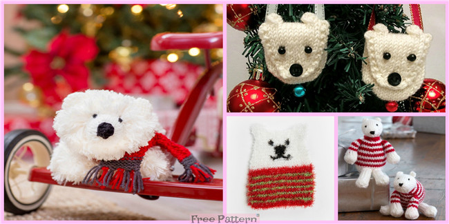 Knit  Holiday Polar Bears – Free Patterns