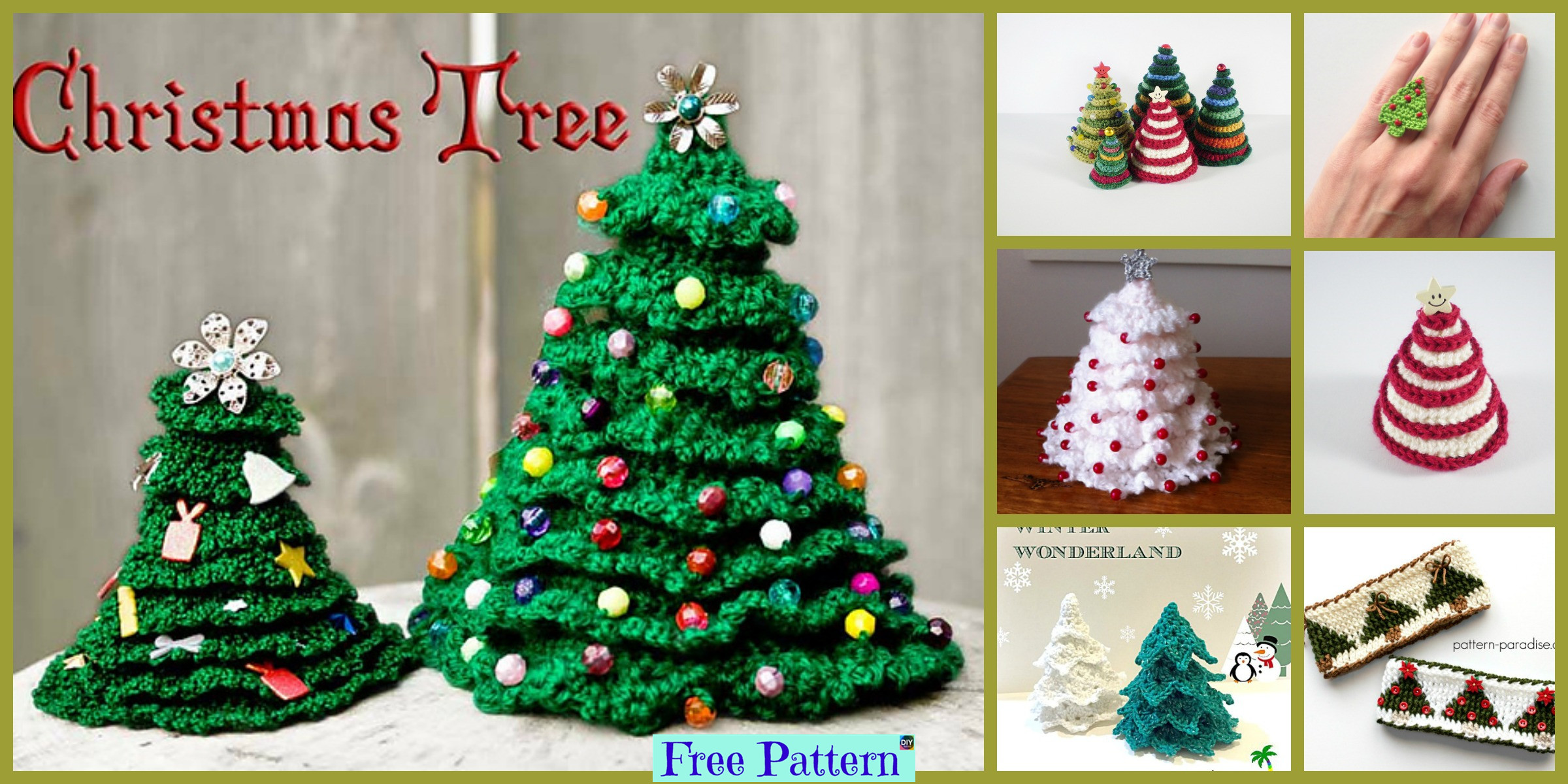 Crochet Christmas Tree Decoration – Free Patterns