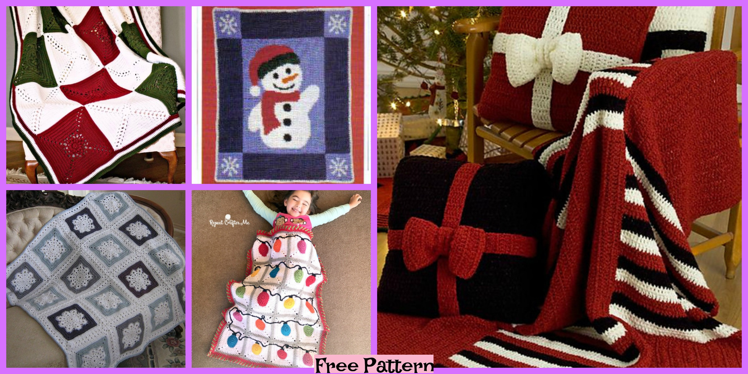 10 Crochet Winter Throws – Free Patterns