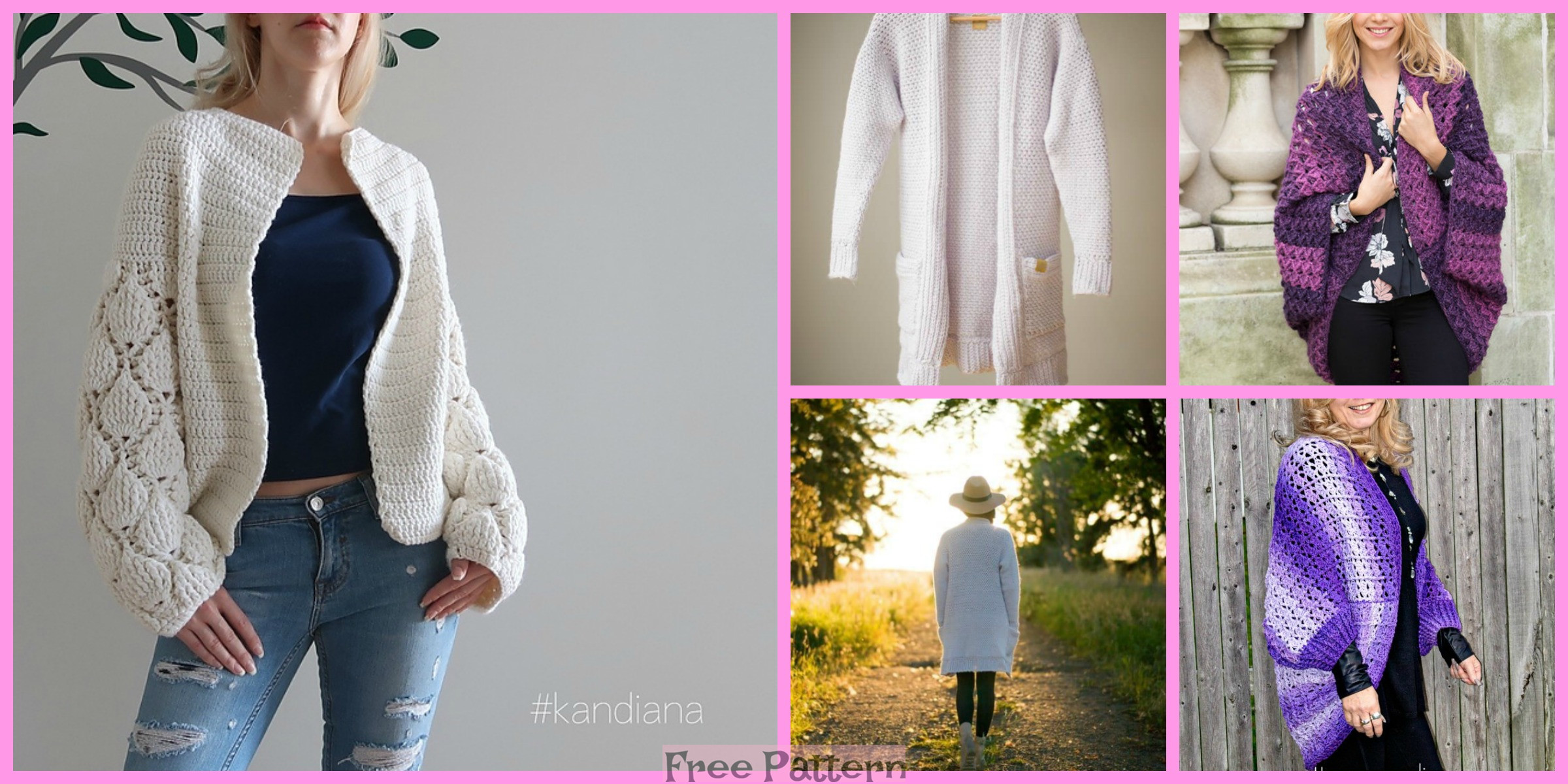 6 Crochet Unique Cardigan Free Patterns