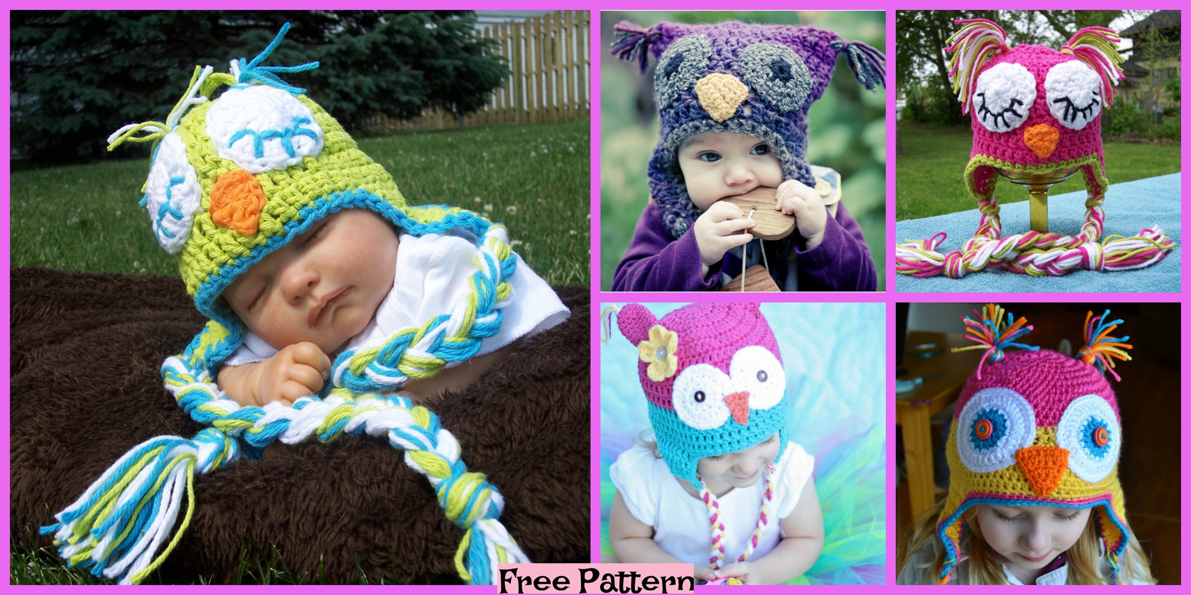 10 Crocheted Owl Hats – Free Patterns