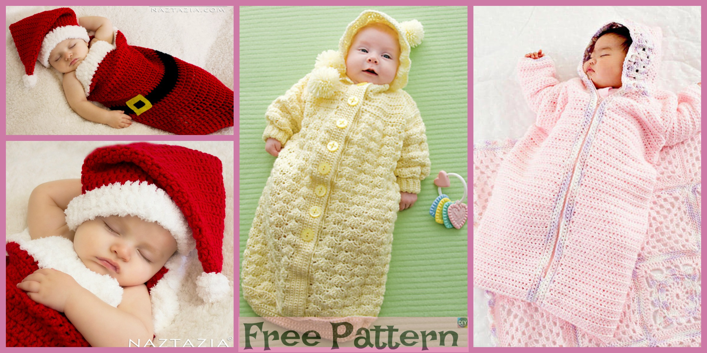 Cozy Baby Crochet Bunting – Free Patterns