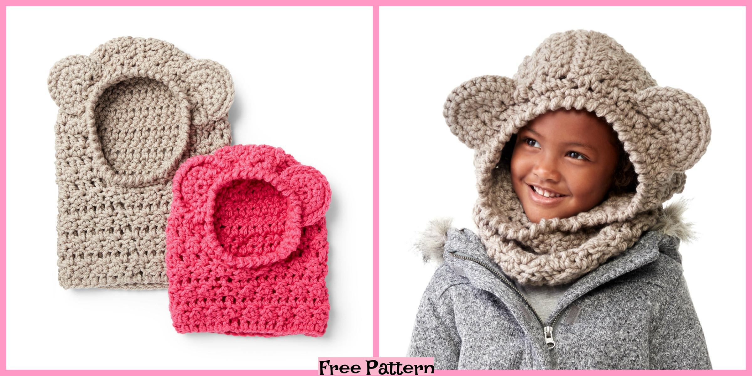 Cute Crochet Bear Hoods – Free Pattern