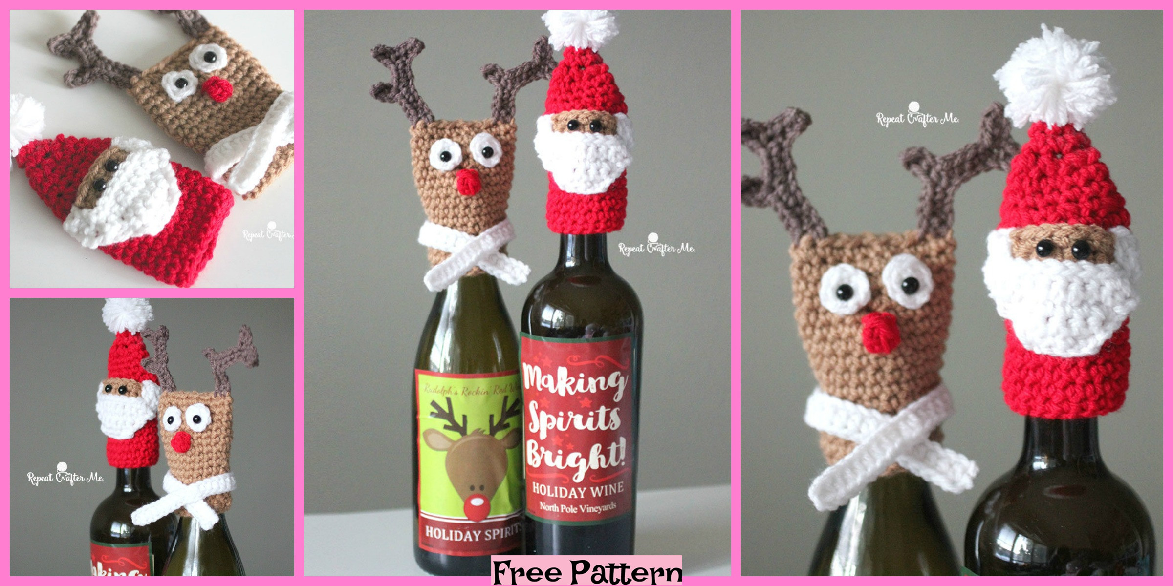 Crochet Bottle Toppers – Free Patterns