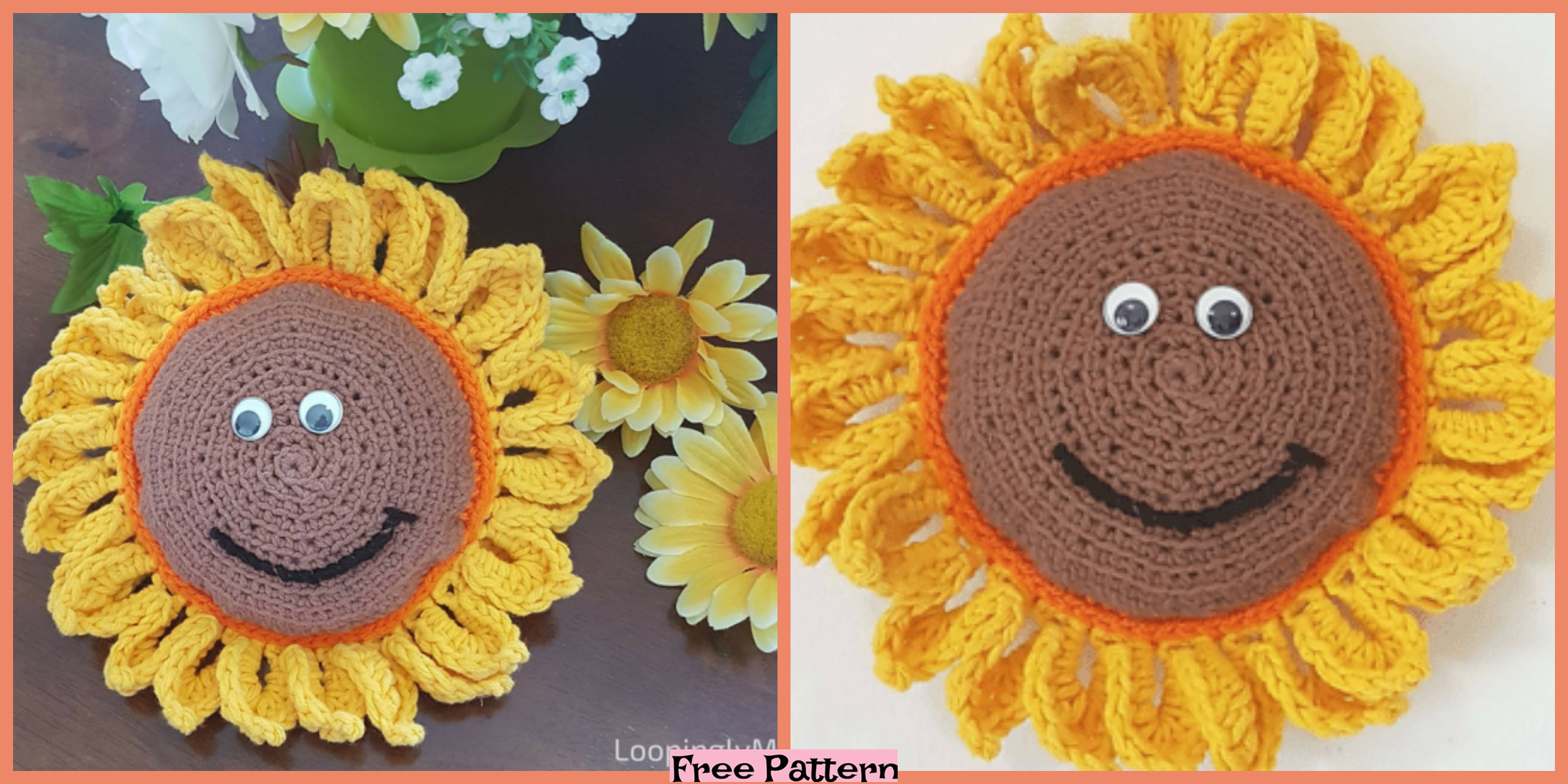 Crochet Sunflower Buddy – Free Pattern