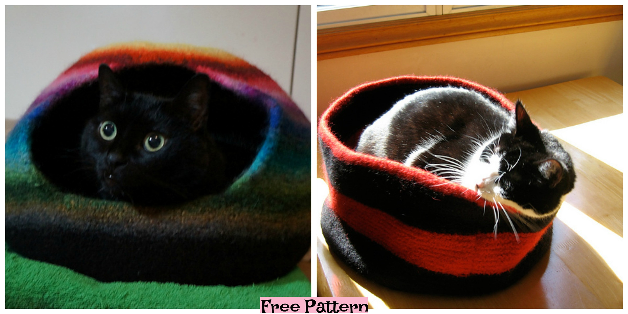 Knit Cozy Kitty Bed – Free Patterns