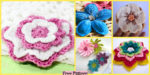 diy4ever-8 Beautiful Crochet Flowers - Free Patterns