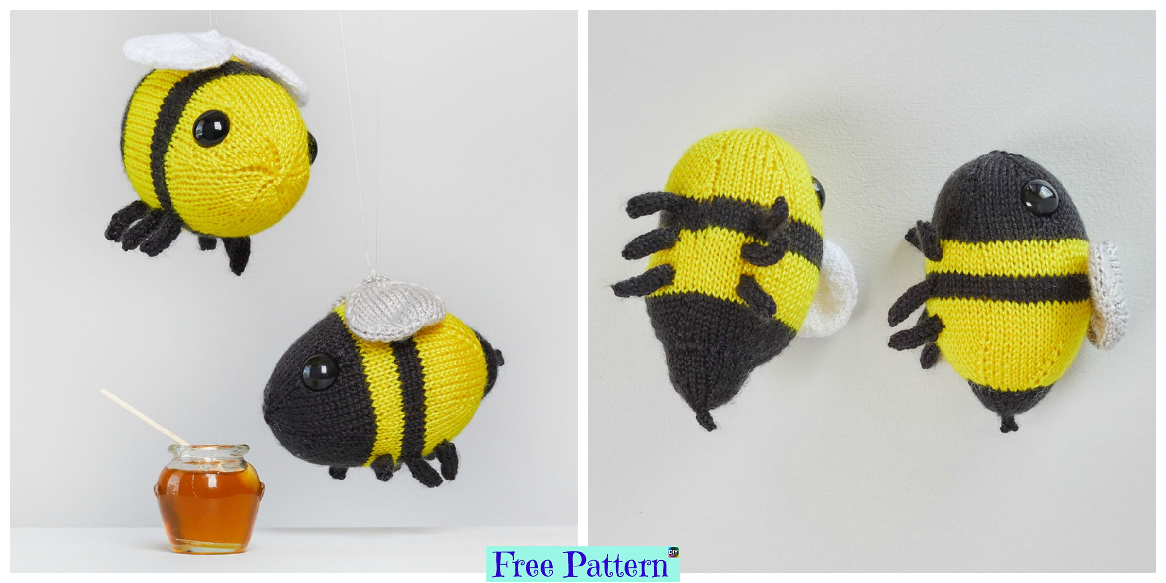 Adorable Knit Bumblebees – Free Pattern