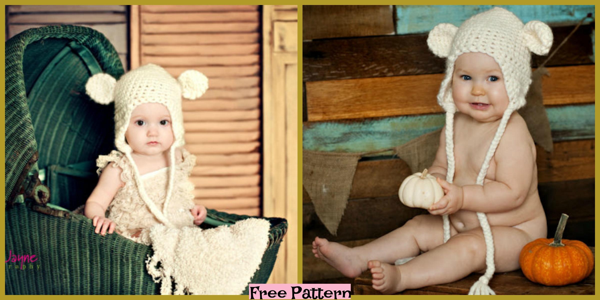 Cute Crochet Bear Hat – Free Pattern
