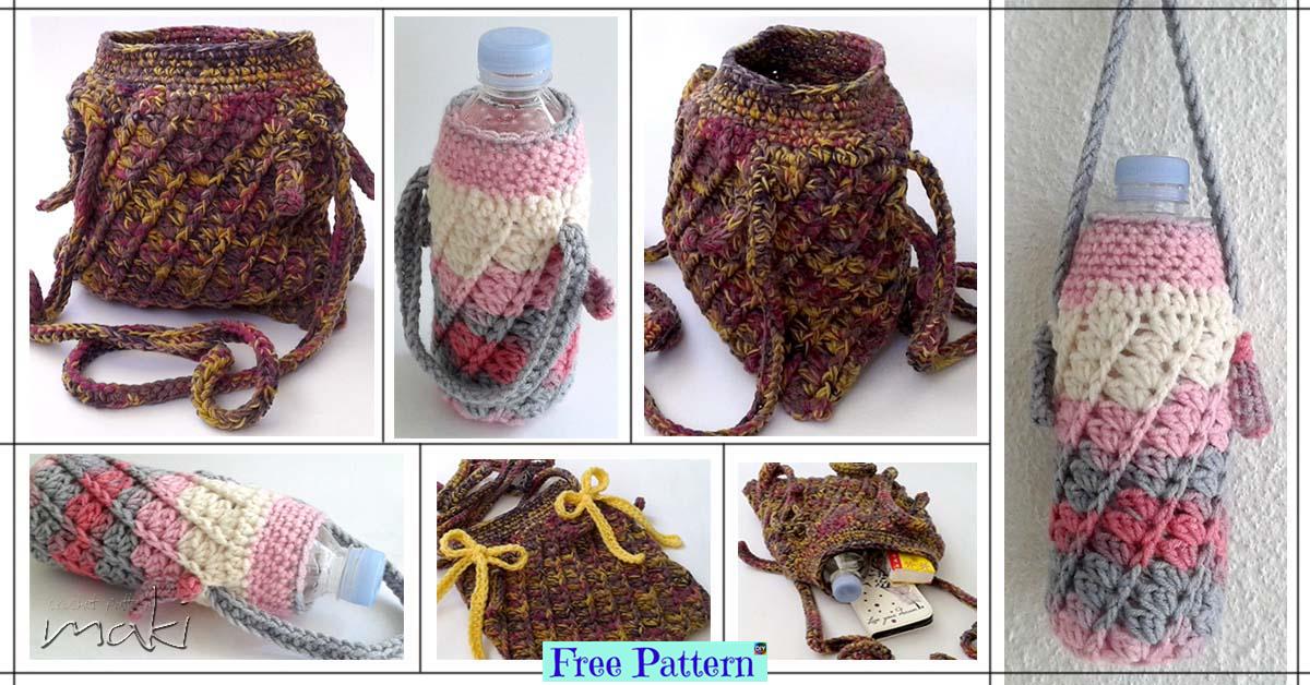 Stylish Crochet Bottle Cozy – Free Pattern