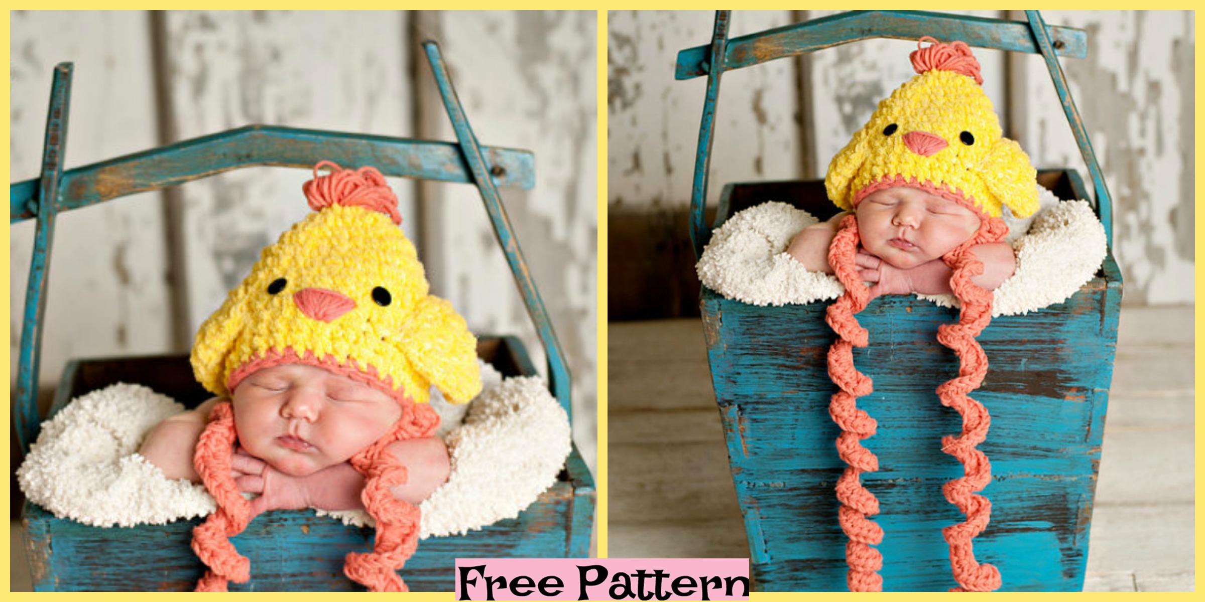 Crochet Chicken Hat – Free Pattern