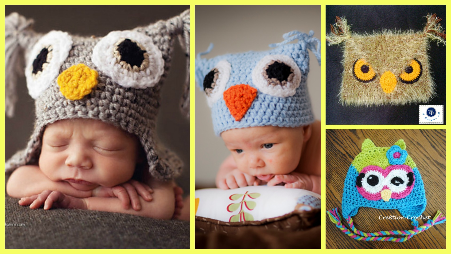 6 Crochet Cute Owl Hats – Free Patterns
