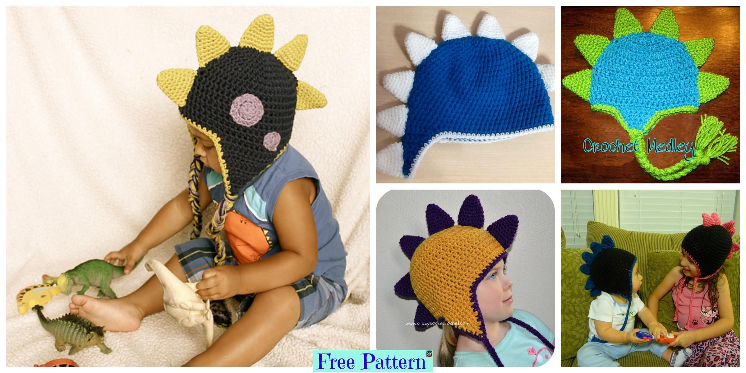 Crochet Dinosaur Spike Hat – Free Pattern