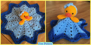 diy4ever-Crochet Duck Blanket - Free Patterns