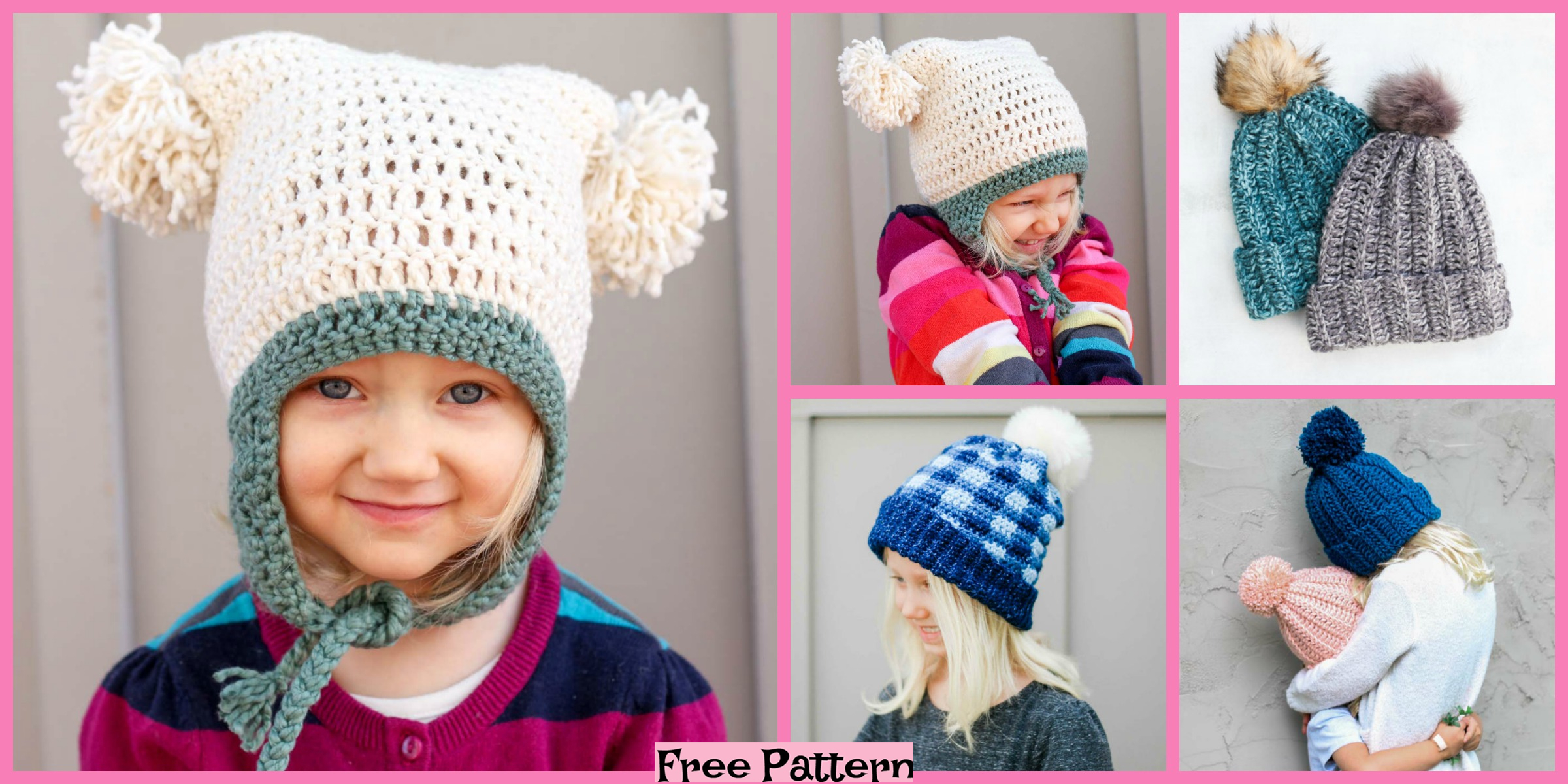 Cute Crochet Easy Hats – Free Patterns