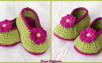 diy4ever-Crochet Fairy Blossom Baby Booties - Free Pattern