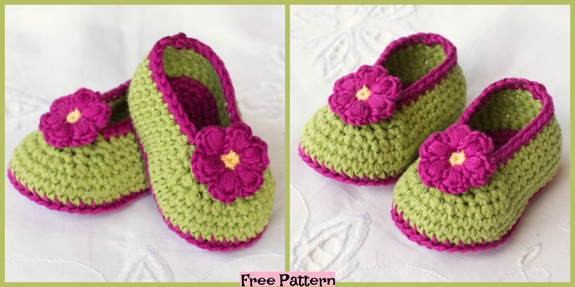 Crochet Fairy Blossom Baby Booties – Free Pattern