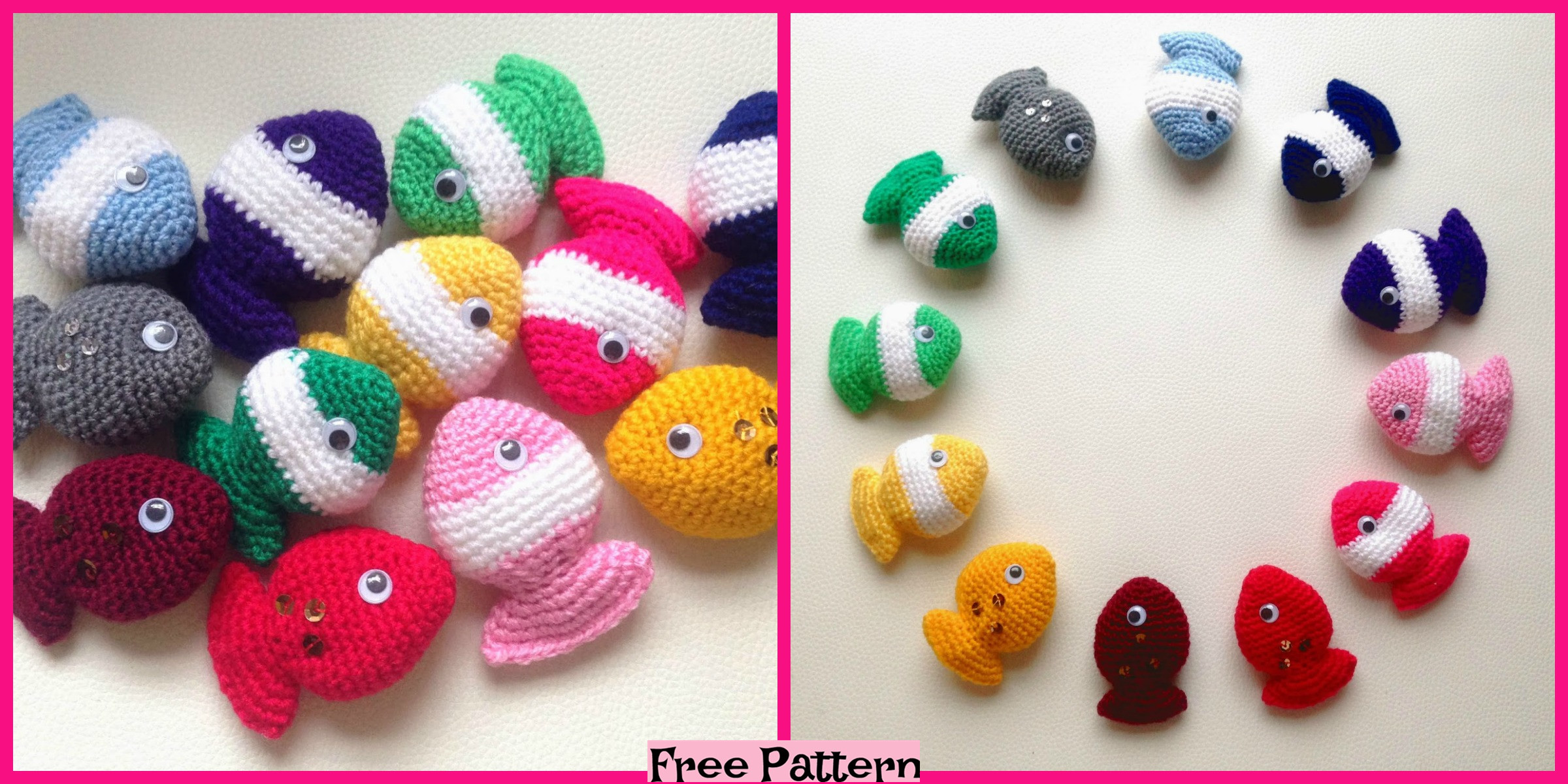 Cute Crochet Fish Candy – Free Pattern