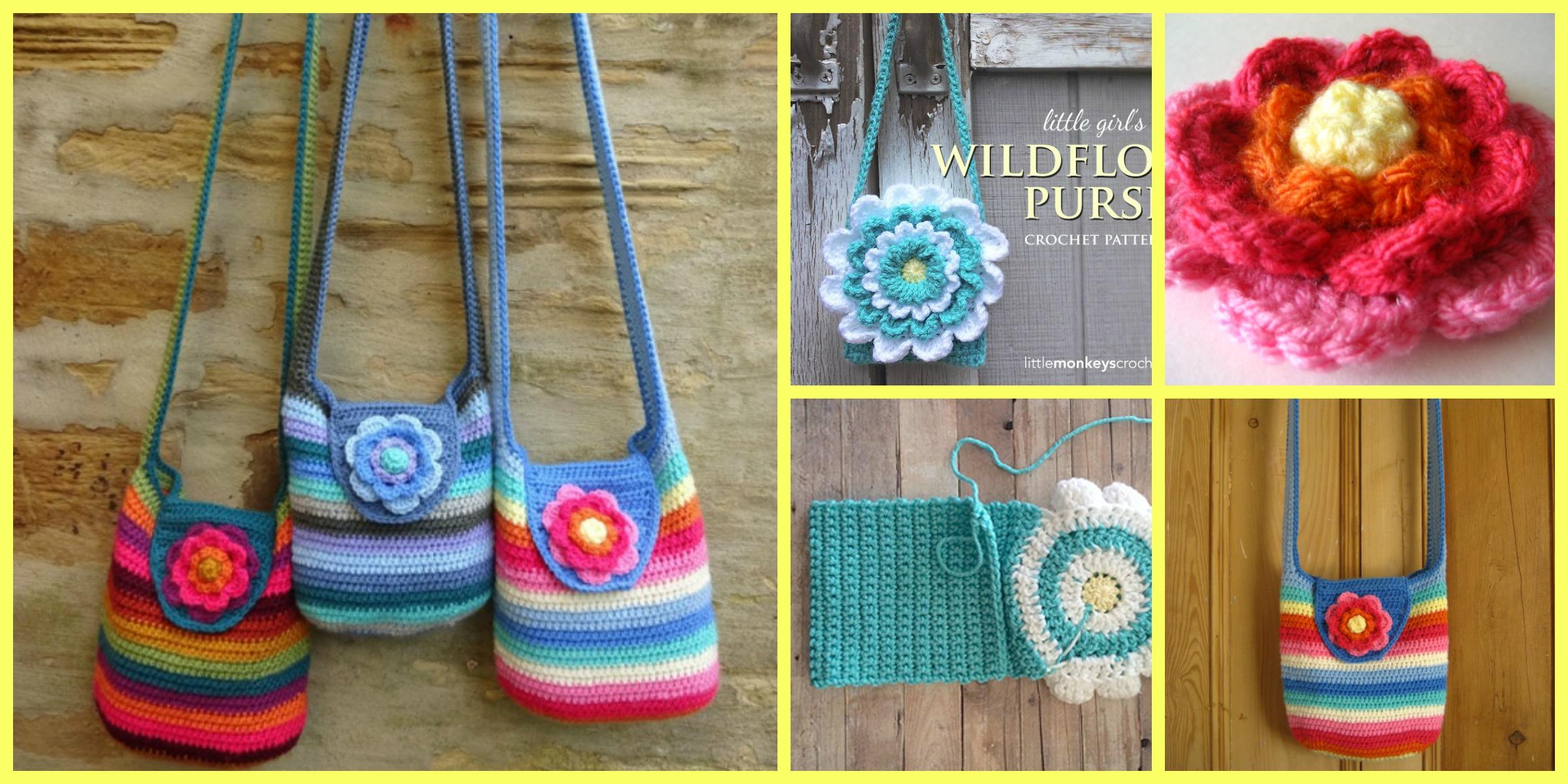 Crochet Flower Purse – Free Patterns