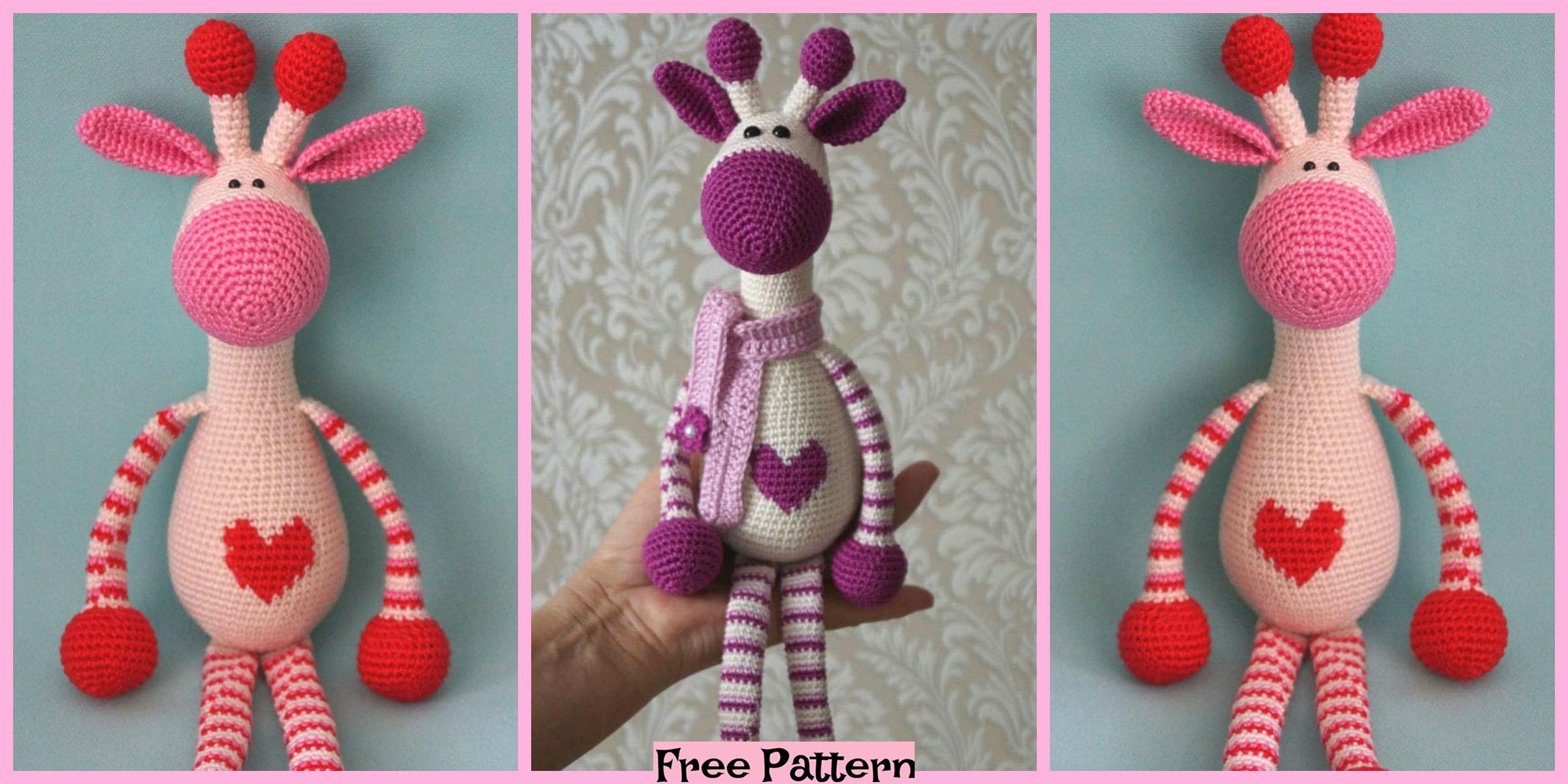 Crochet Hearty Giraffe Amigurumi – Free Pattern