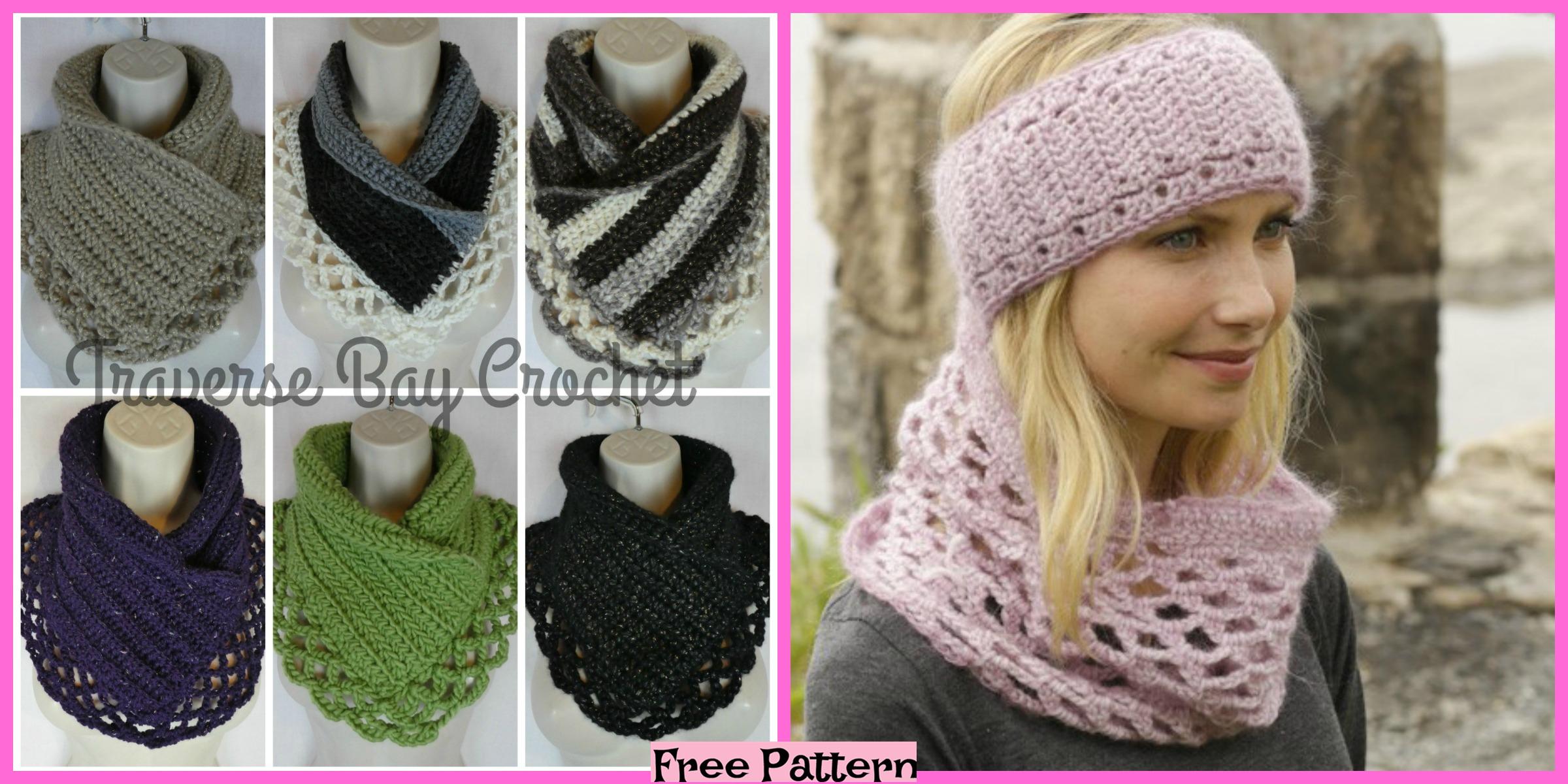 Crochet Lacy Neck Warmer – Free Pattern