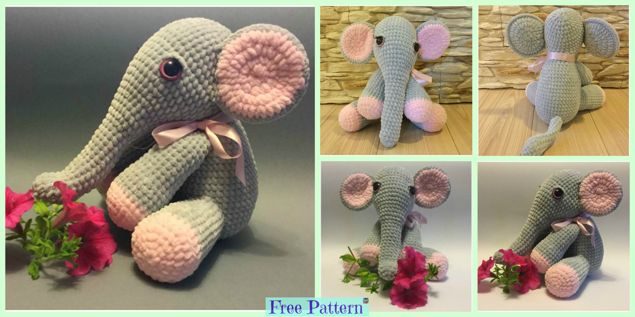 Crochet Lady Elephant – Free Pattern