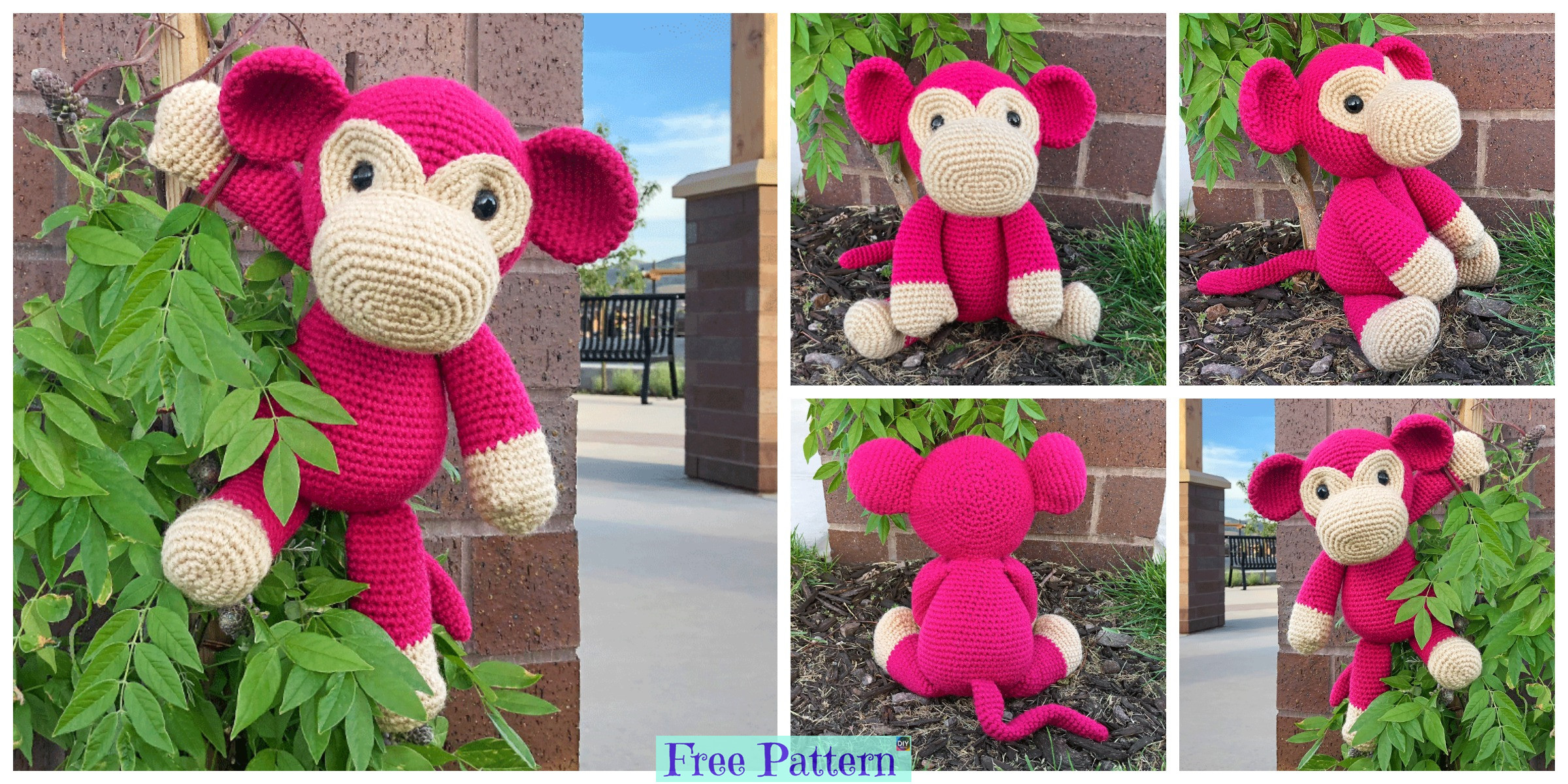 Crochet Mimi Monkey – Free Pattern