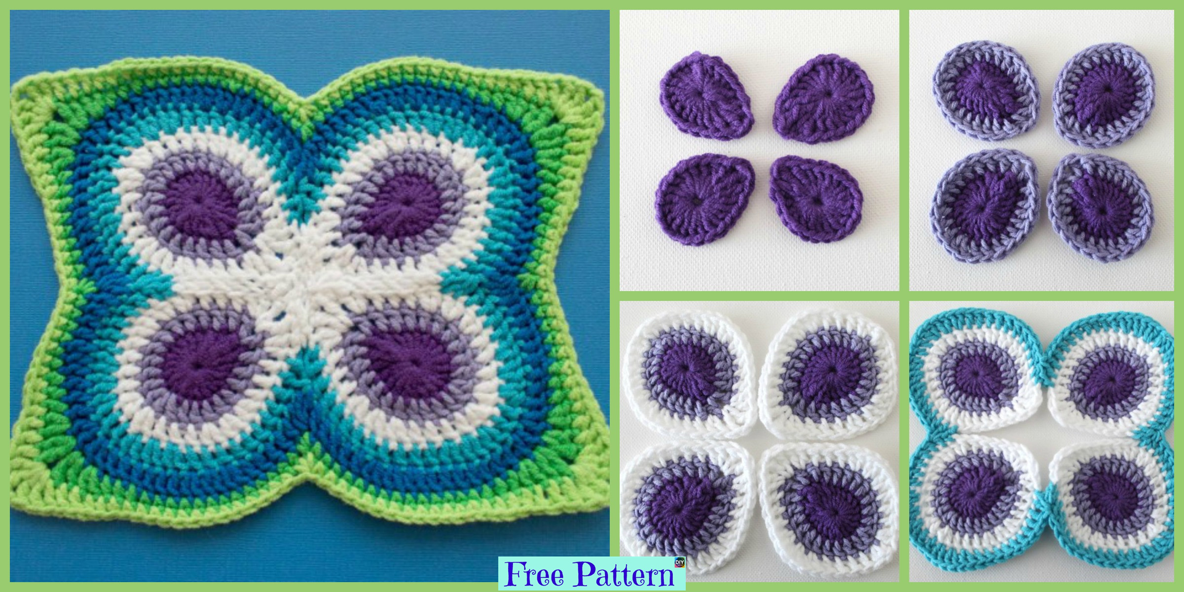 Crochet Peacock Butterfly – Free Pattern