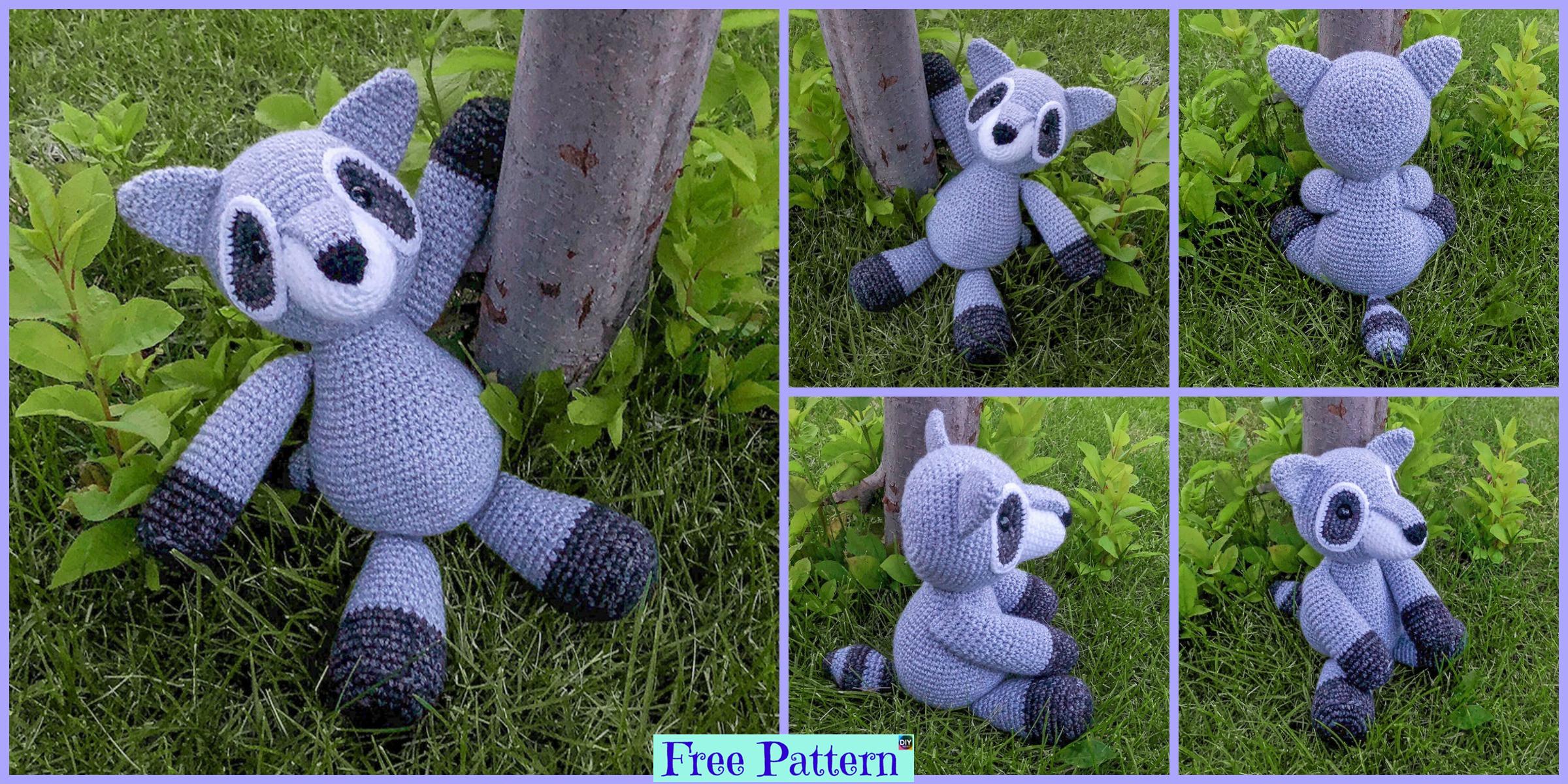 Crochet Raccoon Amigurumi – Free Pattern