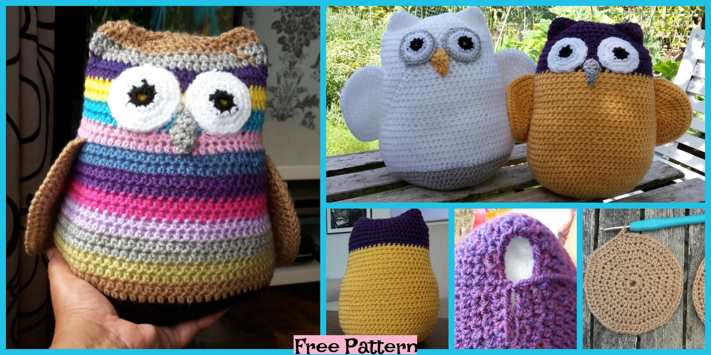 Crochet Three Fat Owls – Free Pattern