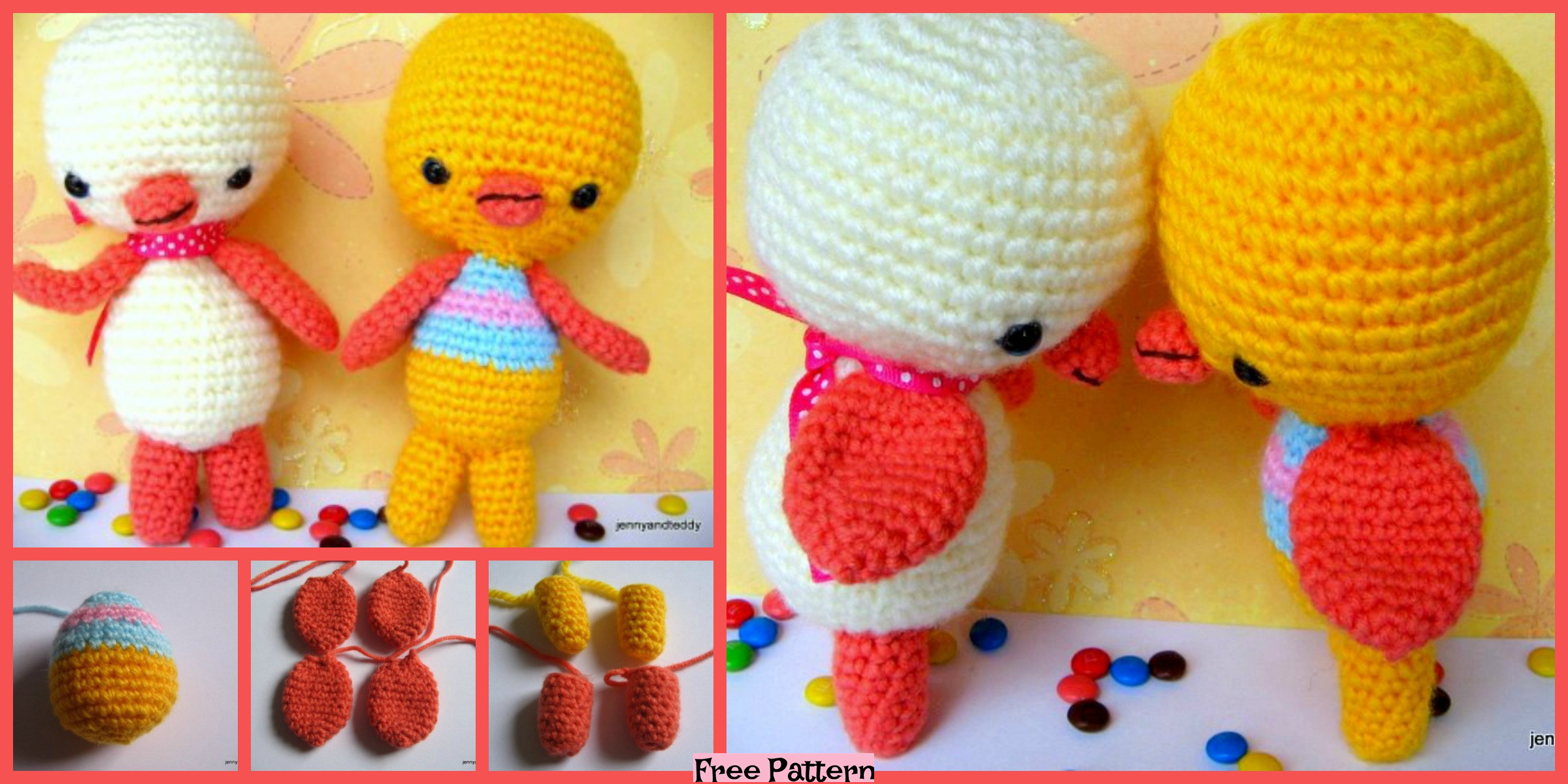 Crochet Two Little Ducky Amigurumi – Free Pattern