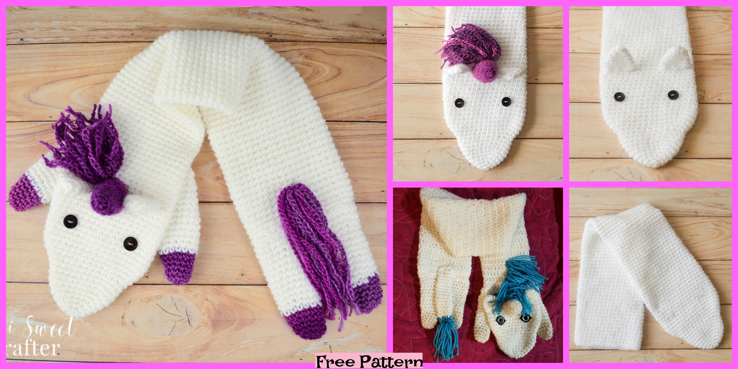 Crochet Unicorn Scarf – Free Pattern