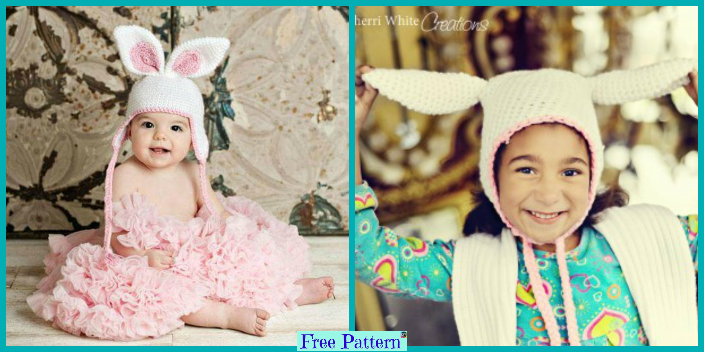 Easter Crochet Bunny Hat – Free Pattern