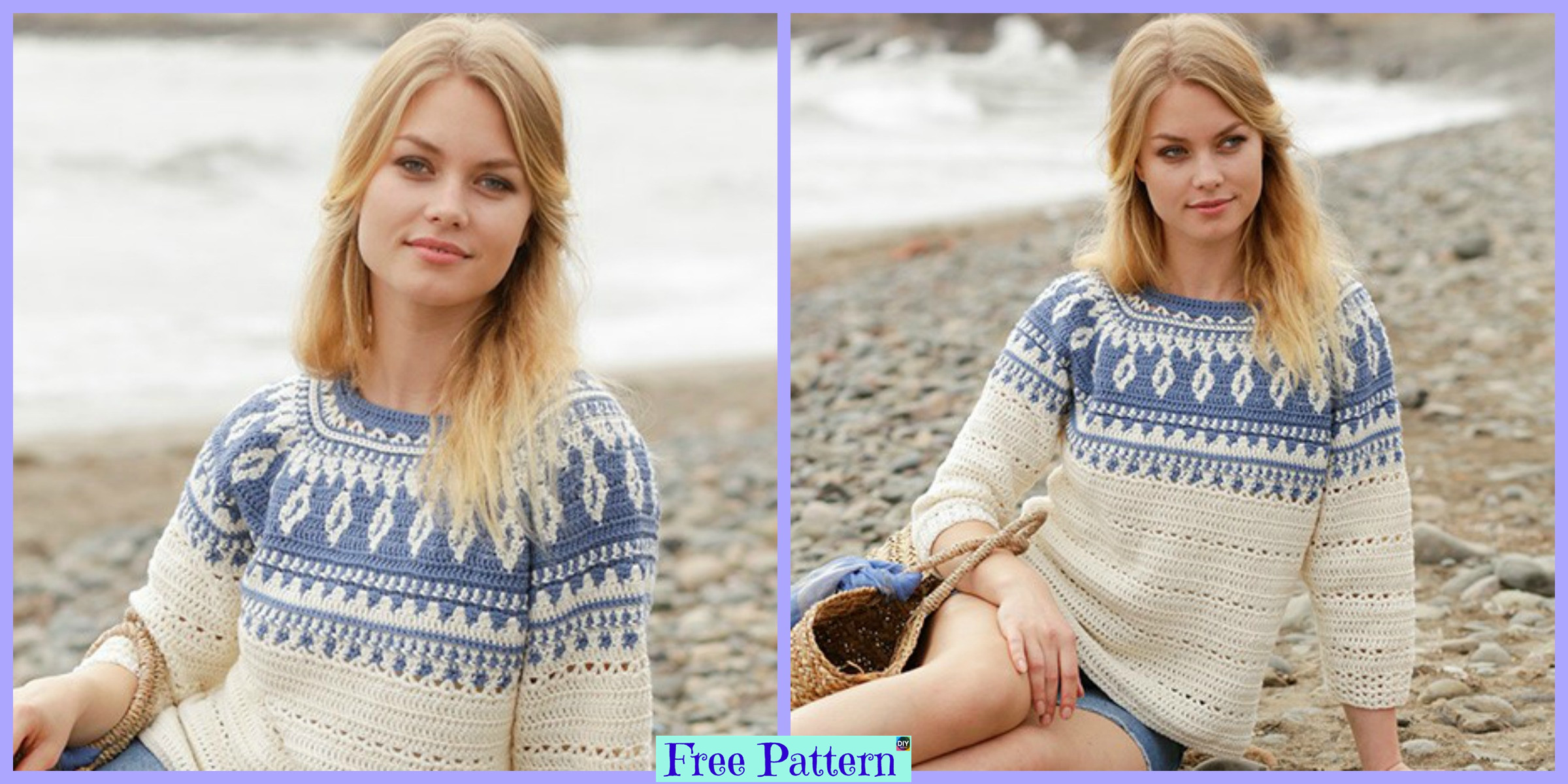 Unique Crochet Round Yoke Top – Free Pattern