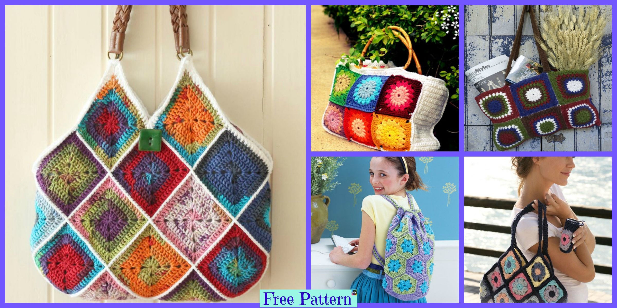 12 Best Crochet Square Bag Free Patterns