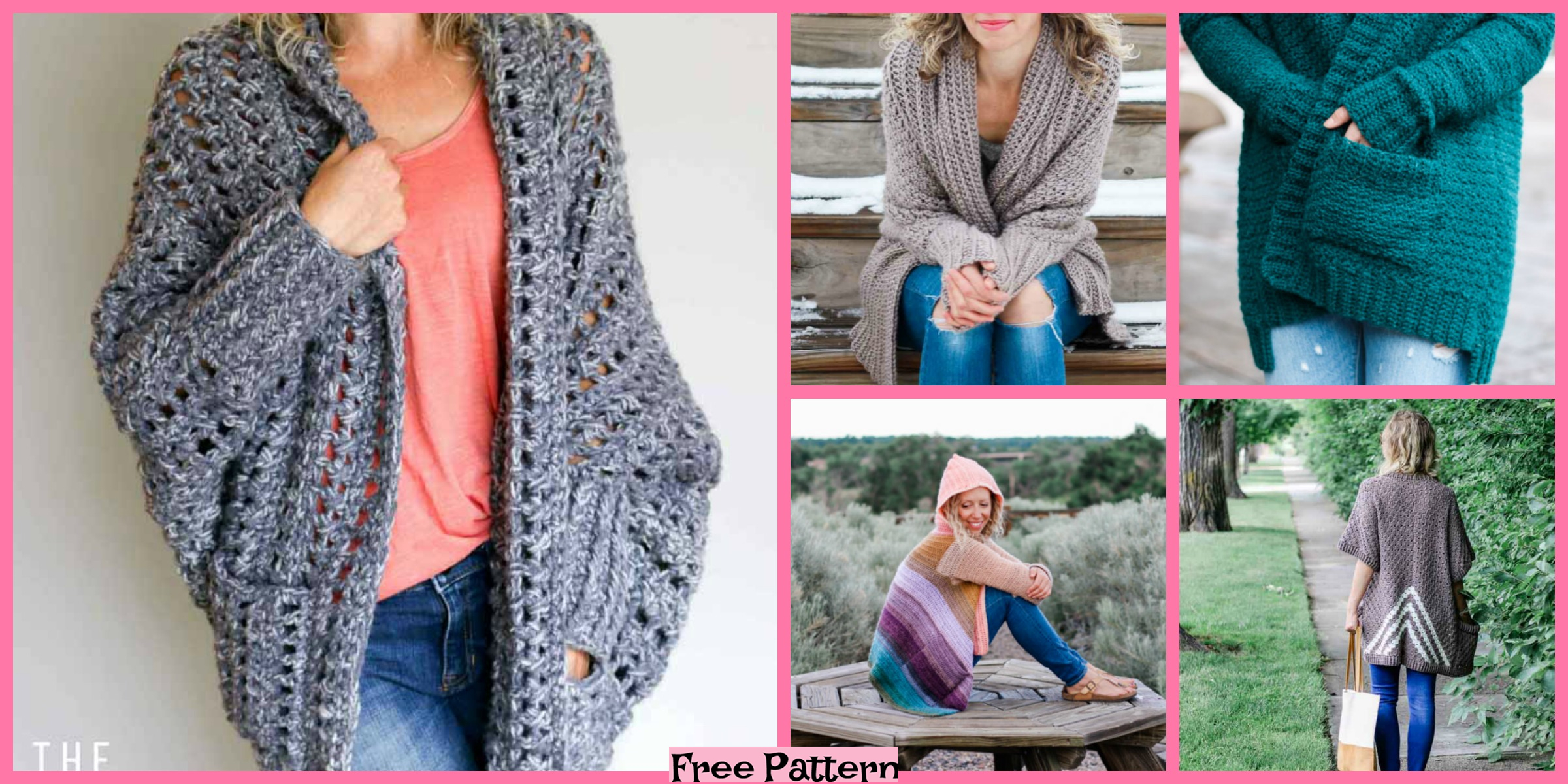 8 Stylish Crochet Cardigan Free Patterns