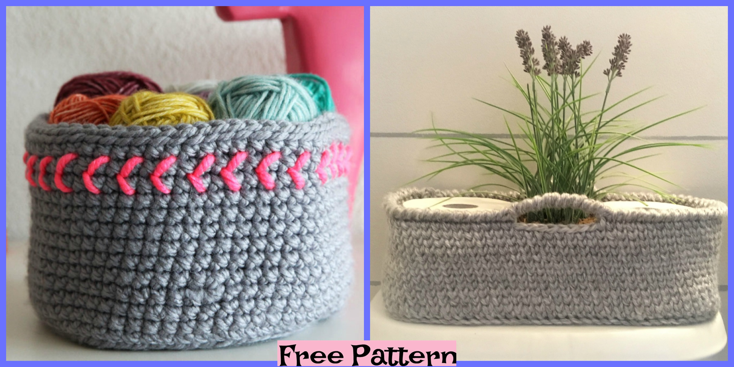 Crochet Chic Baskets – Free Patterns