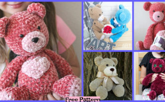 diy4ever-Crochet Big Velvet Bear - Free Patterns