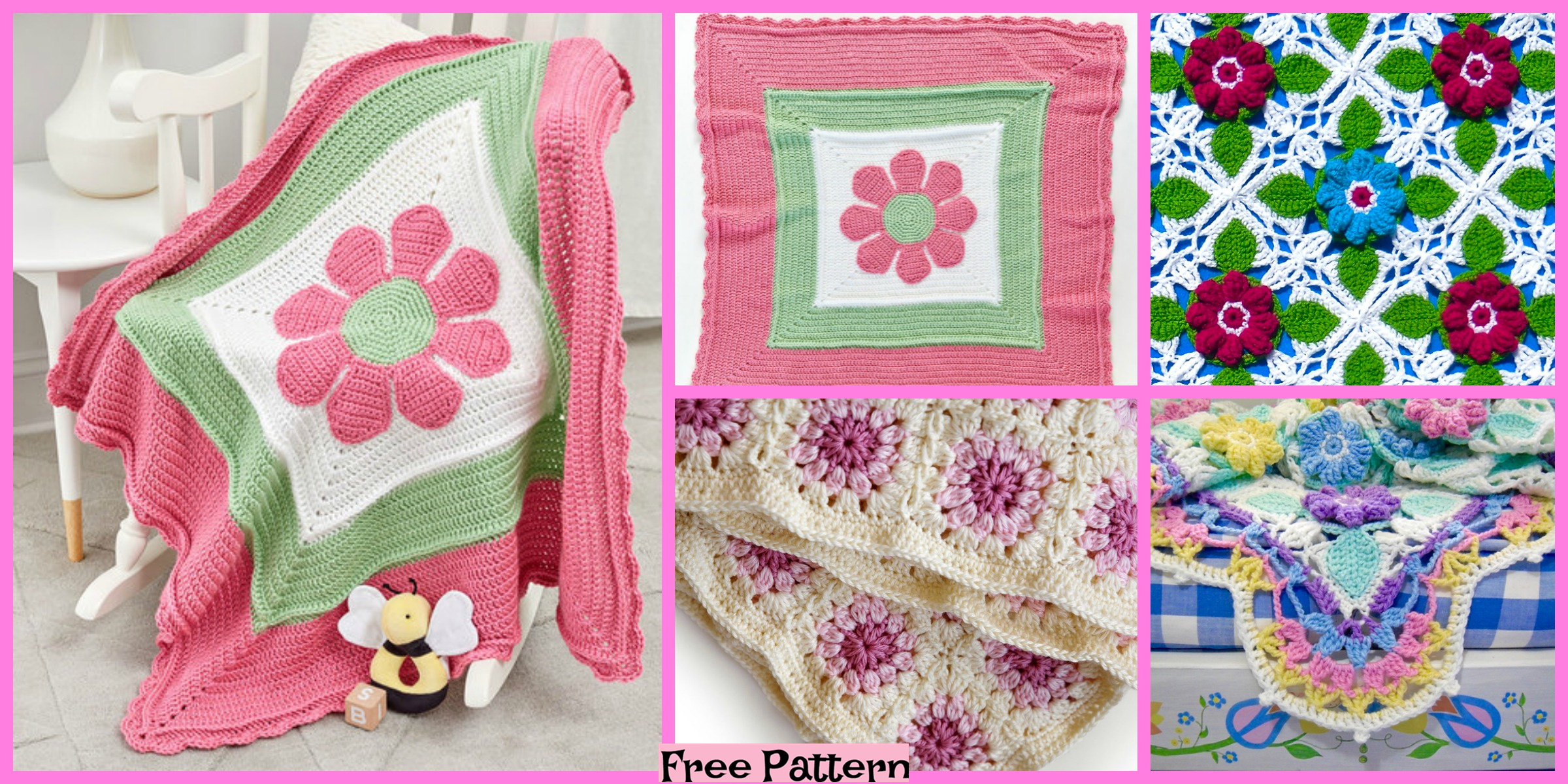 Crochet Bloom Throw Blankets – Free Patterns