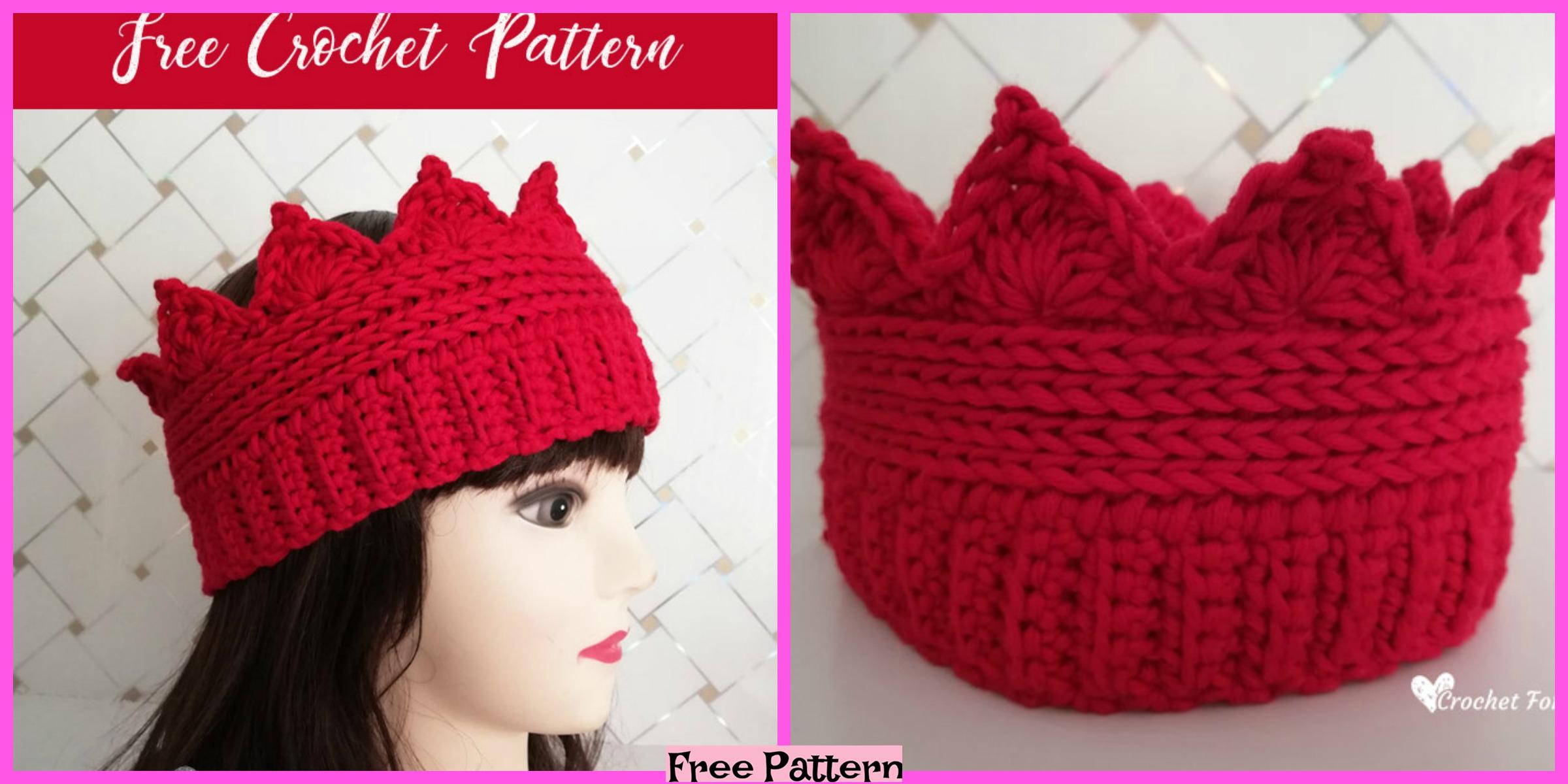 Crochet Crown Ear Warmer – Free Pattern