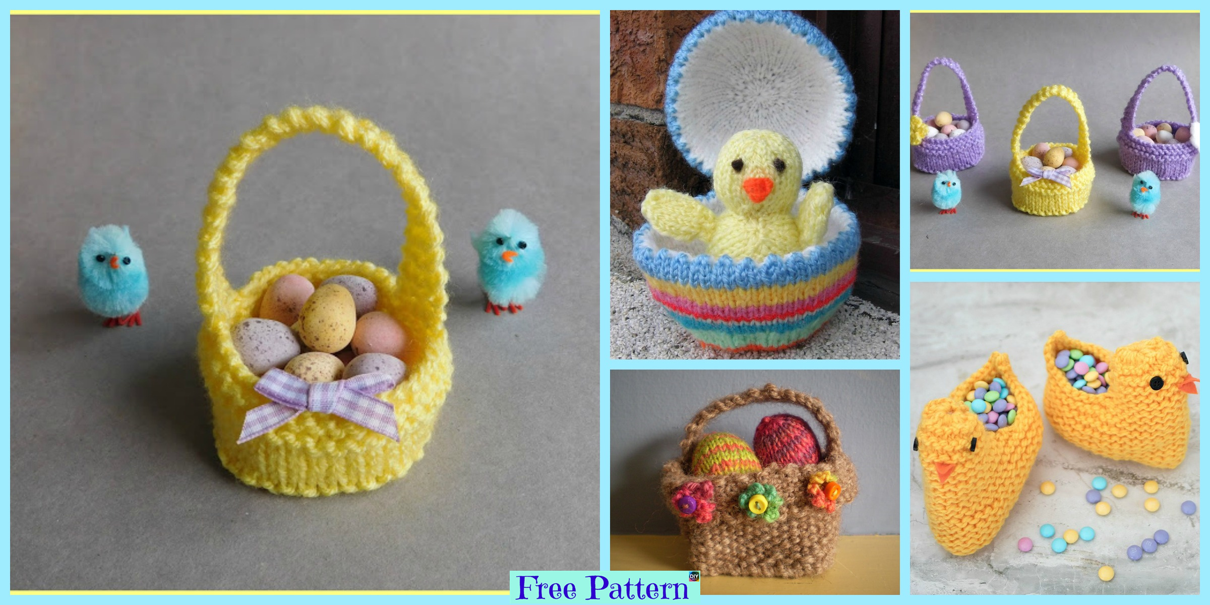 Crochet Easter Baskets – Free Patterns