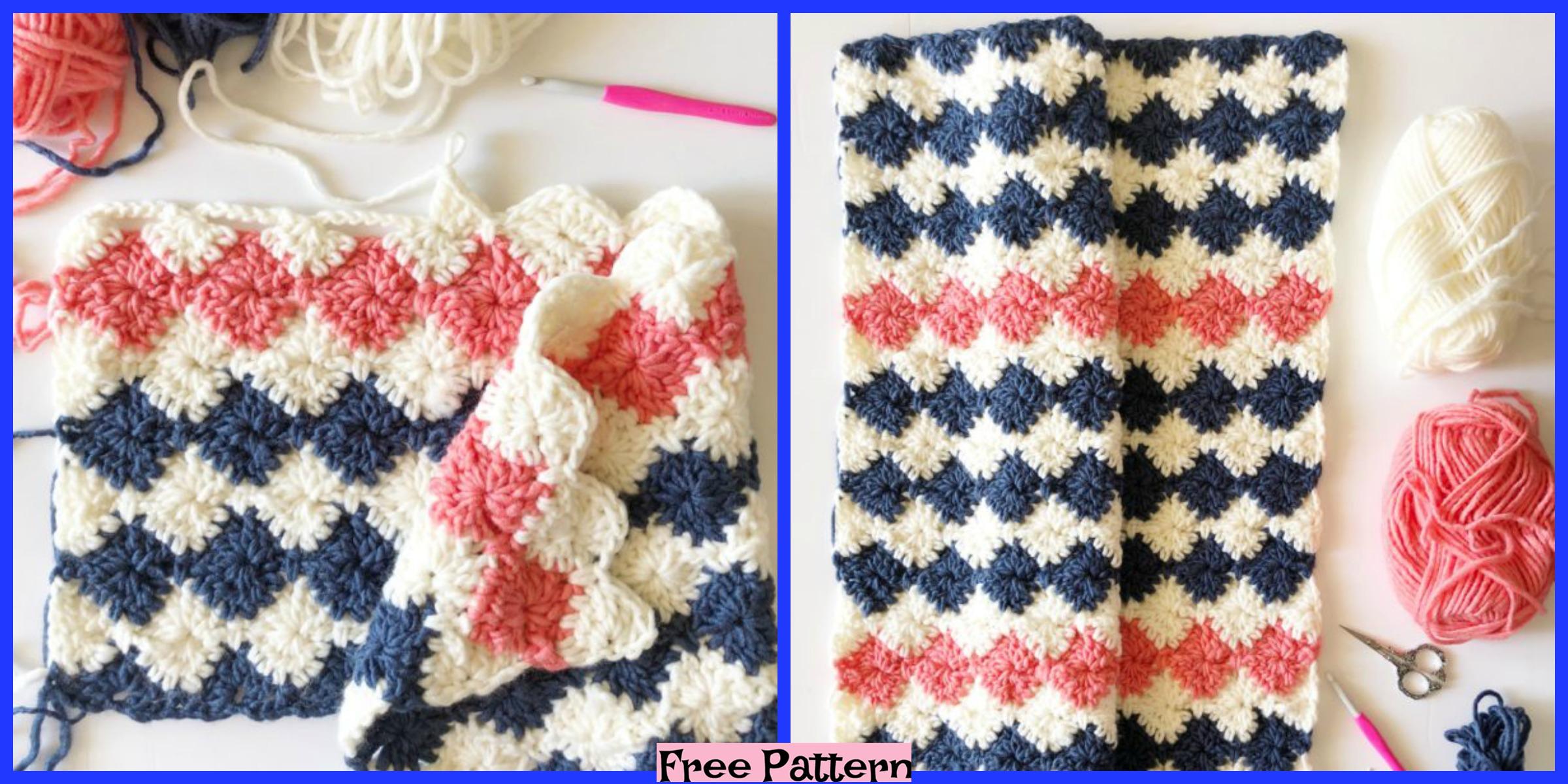Crochet Harlequin Blanket – Free Pattern