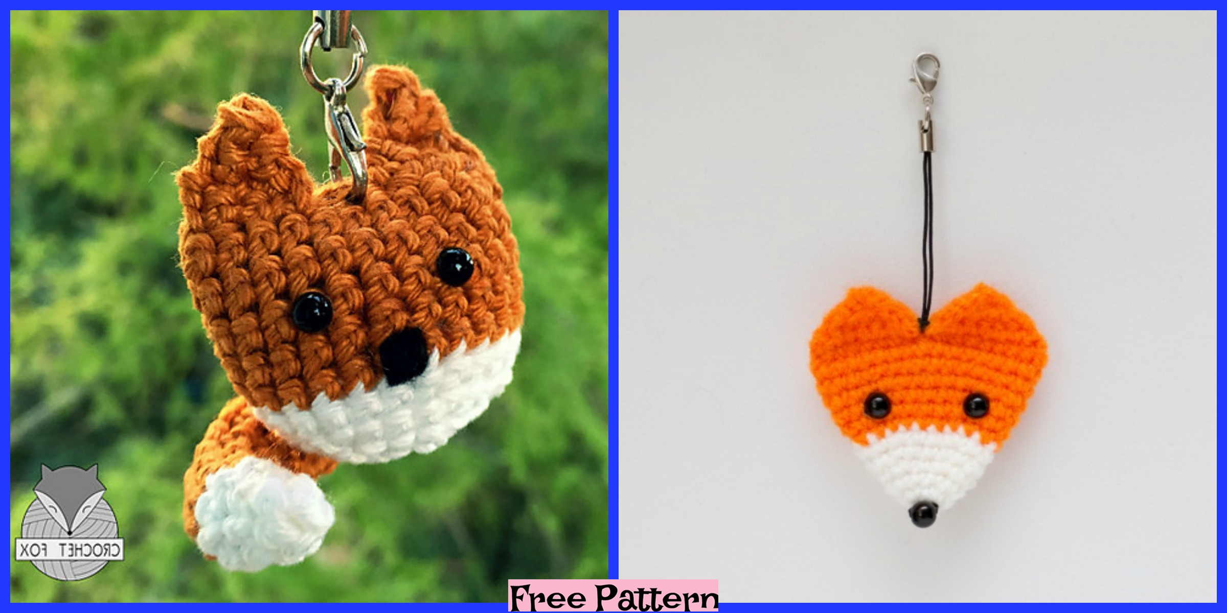 Crochet Keychain - 15 Free Crochet Patterns ⋆ DIY Crafts | 1200x2400