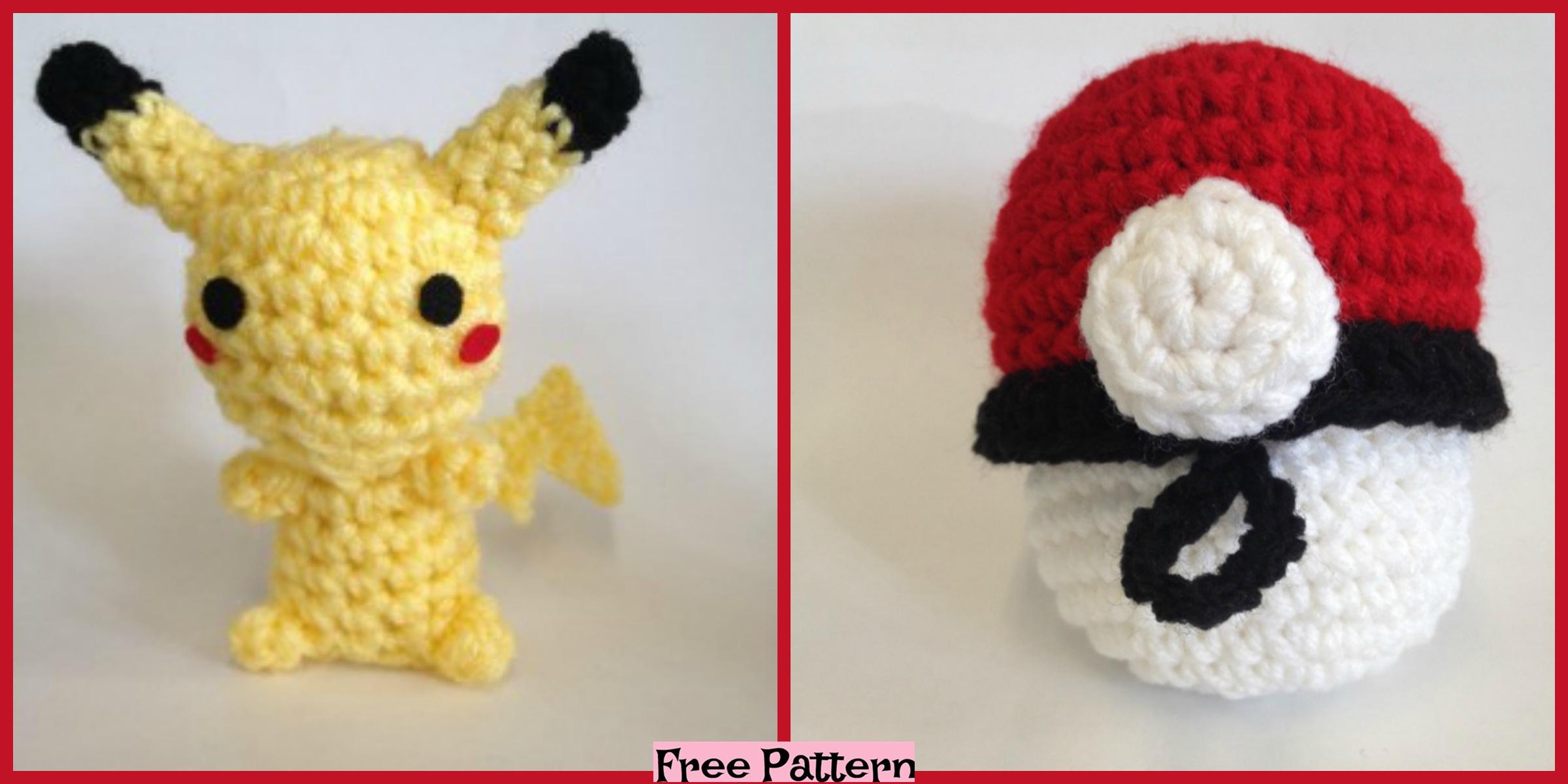 Crochet Pikachu & Pokeball Pod – Free Pattern