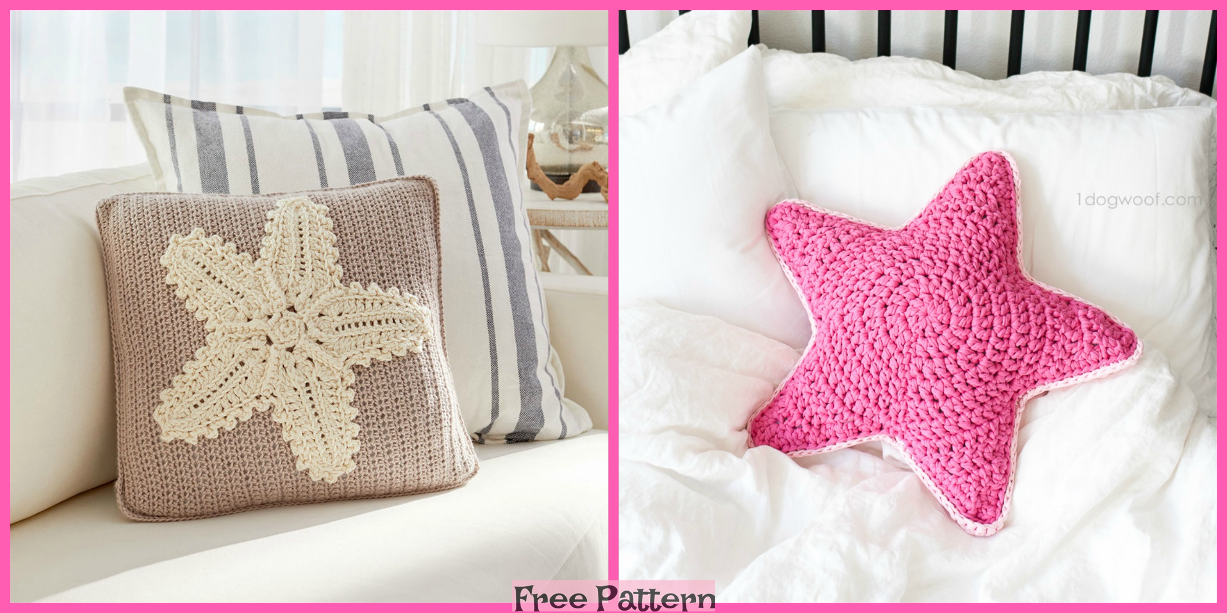 Crochet Starfish Pillow – Free Pattern