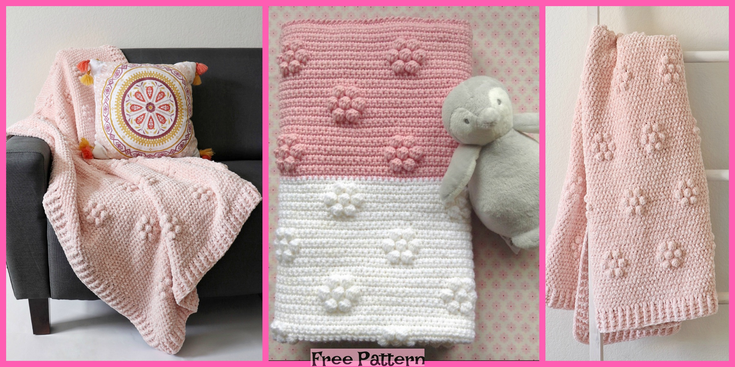 Crochet Velvet Throw – Free Patterns