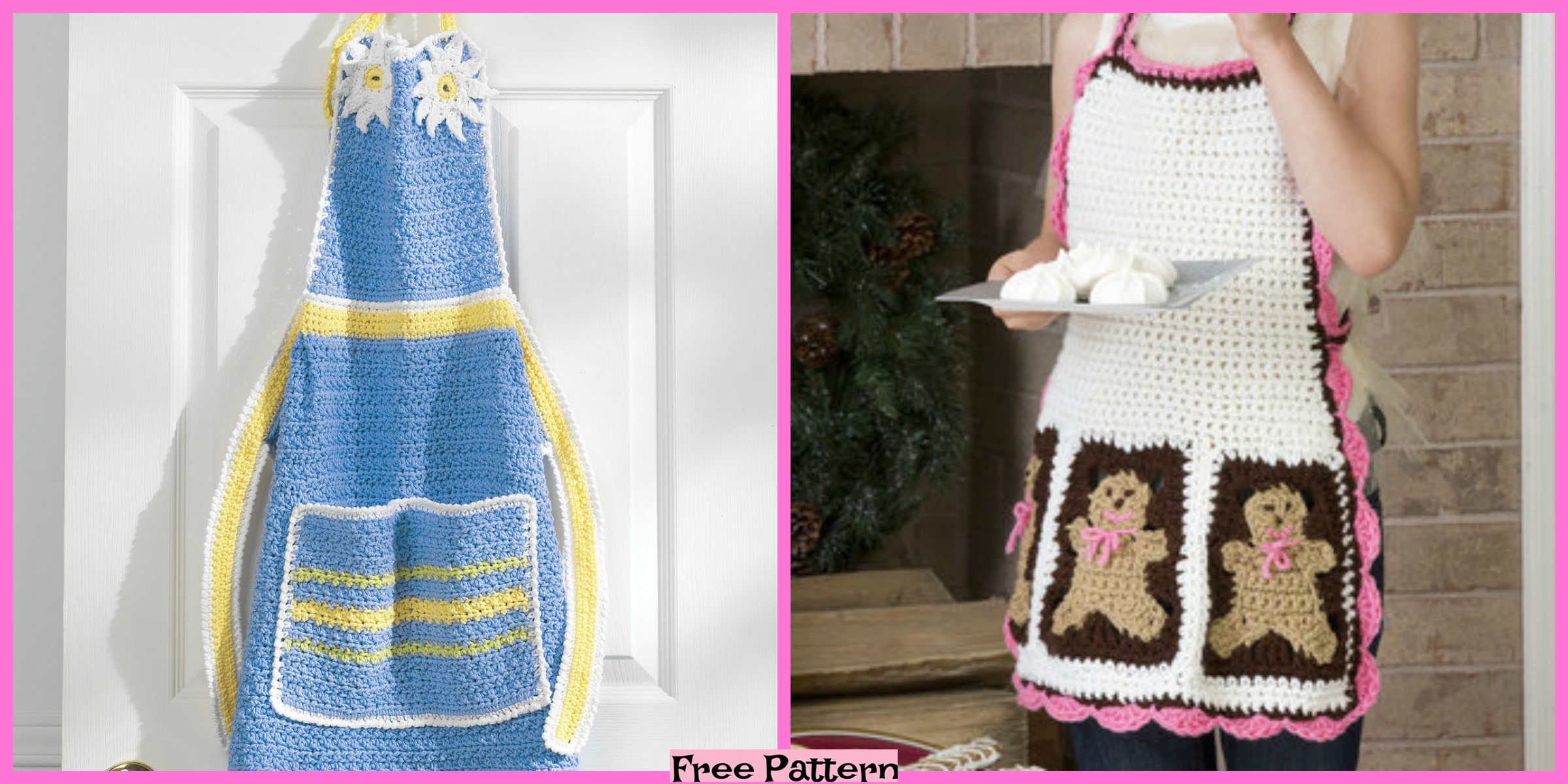 Super Cute Crochet Aprons – Free Pattern