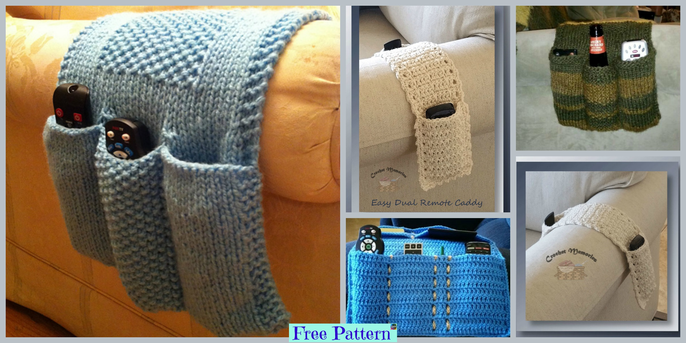 Knit & Crochet Remote Caddy – Free Patterns