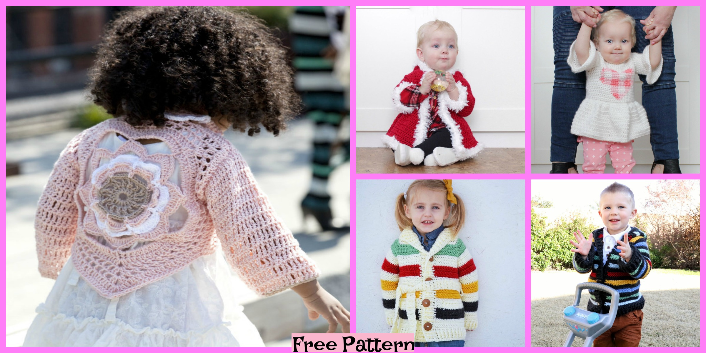 10 Awesome Crochet Kids Sweaters – Free Patterns