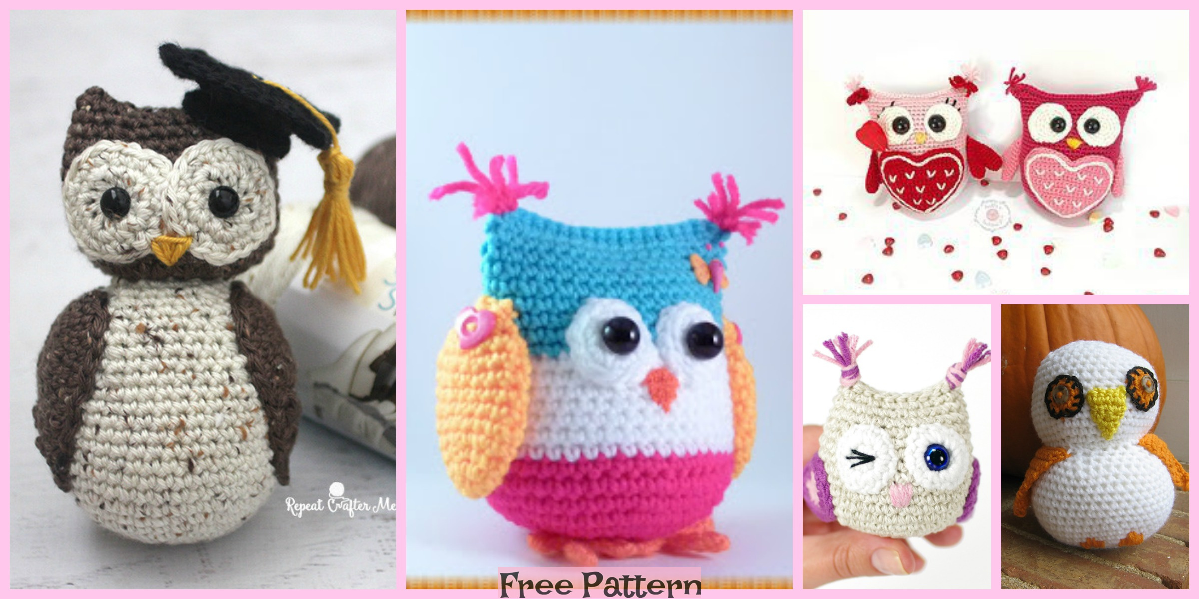8 Cute Crochet Little Owls – Free Patterns